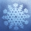 Royalty-Free Stock Photo: Snowflake pattern on window