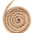 Skein of rope isolated on white - Stock Photo