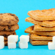 Stock Photo: Concept: Amount of sugar in food