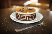 Sweet tasty cake in cafe — Stock Photo