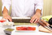 Making rolls — Stock Photo