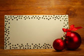 Beautiful Christmas composition on wooden background — Stock Photo
