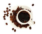Taza de café aislado en blanco — Foto de Stock