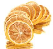 Limoni secche isolate su bianco — Foto Stock