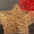 Royalty-Free Stock Photo: Christmas stars on gray background