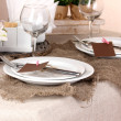 Rustic table setting — Stock Photo #15835837
