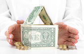 Concept: investment to house — Stock Photo