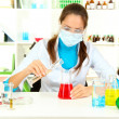Young scientist in laboratory — Stock Photo #15985223