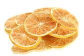Suszone cytryn na białym tle — Zdjęcie stockowe