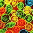 Zdjęcie stockowe: Colorful quilling on red background close-up
