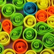 Colorful quilling close-up - Zdjęcie stockowe