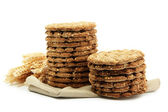 Tasty crispbread and ears, isolated on white — Stock Photo