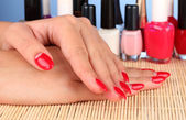 Gentle care of nails in a beauty salon — Stock Photo