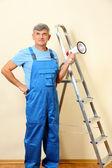 Sovrintendente costruzione dirige riparazione — Foto Stock