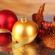 Christmas decoration on light background - Stock Photo