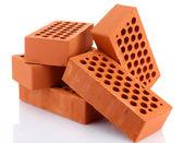 Bricks, isolated on white — Stock Photo