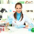Young scientist in  laboratory - Photo