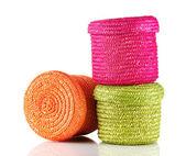 плетеные цвет коробки изолирован на белом — Стоковое фото