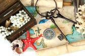 Map of treasures background — Stock Photo