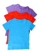 Blue t-shirt isolated on white — Stock Photo