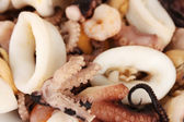 Seafood background — Stock Photo