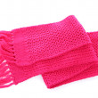 Pink knitted scarf isolated on white — Stock Photo #16804287