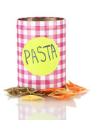 Pasta container isolated on white — Stock Photo