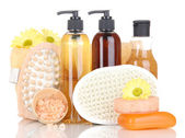 Set for care of a body isolated on white — Stock Photo