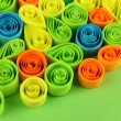 Zdjęcie stockowe: Colorful quilling on green background close-up