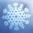 Snowflake pattern on window — Stock Photo #16866151