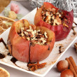 Baked apples on plate close up — Stock Photo #16866775