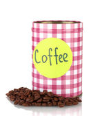 Coffee container isolated on white — Stock Photo