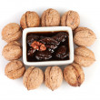 Stock Photo: Jam walnuts in a bowl