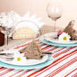 Stock Photo: Rustic table setting