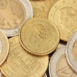 Royalty-Free Stock Photo: Euro coins background