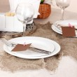 Rustic table setting — Stock Photo #16989735