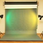 Empty photo studio with lighting equipment — Stock Photo #17187133