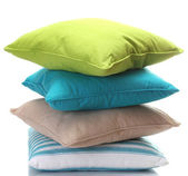 Bright pillows isolated on white — Foto Stock