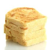 White bread toast, isolated on white — Stock Photo