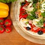 Process of making pizza — Stock Photo #17385381