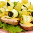 Royalty-Free Stock Photo: Canapes on plate close up