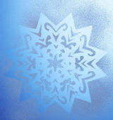 Snowflake pattern on window — Stock Photo