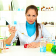 Young scientist in  laboratory - Stock Photo