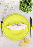 Table setting festive table — Stock Photo