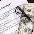 Loan agreement close-up — Stock Photo