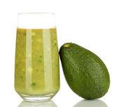 Useful fresh avocado isolated on white — Stock Photo