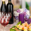Canapes and wine in restaurant - Lizenzfreies Foto