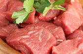 Raw beef meat close up — Stock Photo