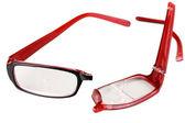 Broken glasses isolated on white — Stock Photo