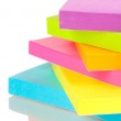Stack of colorful Sticky Notes isolated on white — Stock Photo #17844711